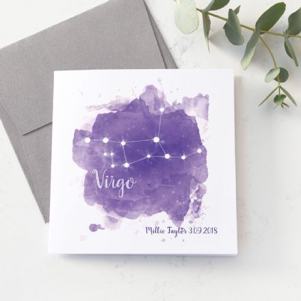 Personalised Virgo Star Sign Card